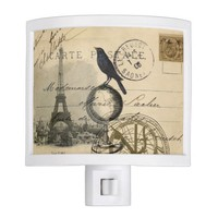 Crow Globe Paris Night Light