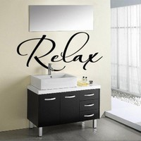 Vinyl Wall Decal Art Sticker - Relax - Large size | WondrousWallArt - Furnishings on ArtFire