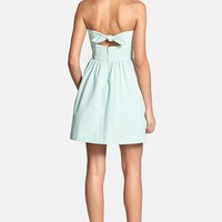 Lilly Pulitzer® 'Richelle' Back Bow Stripe Seersucker Fit & Flare Dress | Nordstrom