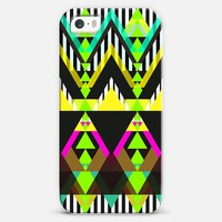 Lime Green Pop Aztec iPhone 5s case by Organic Saturation | Casetagram