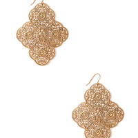Filigree Panel Earrings