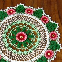 Roses Shamrocks Crocheted Lace Doily - Garden Cottage Irish Crochet | RSSDesignsInFiber - Crochet on ArtFire