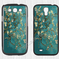 Van Gogh Flower Samsung Galaxy S3 S4 Case,Oil Painting Almond Tree Galaxy S3 S4 Hard Rubber Case,cover skin Case for Galaxy S3 S4,More