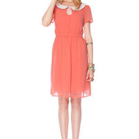 Wendy Lady Dress in Coral :: tobi