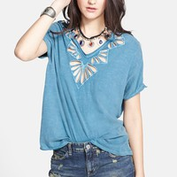 Free People Cutout Double V-Neck Tee | Nordstrom