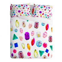 Natalie Baca Rhinestone Reverie In White Sheet Set