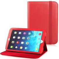 Orbit 360 Rotating Stand Case for Apple iPad Air (Red Removable)