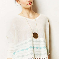 Lattice Hem Pullover
