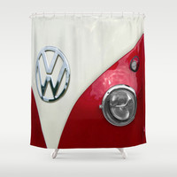 VW T2 Split Screen Shower Curtain by Alice Gosling
