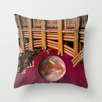 BAMBOO-ZLED Throw Pillow by Catspaws