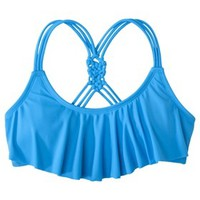 Xhilaration® Junior's Hanky Swim Top -Blue