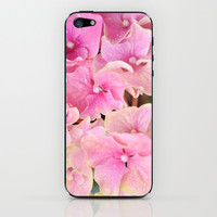 Pink Hydrangeas iPhone & iPod Skin by Lisa Argyropoulos