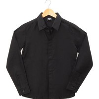 D&G Junior Boys' Long-Sleeved Cotton Shirt - Made in Europe