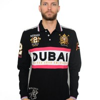 Geographical Norway Dubai Motif Cotton Polo Shirt Made In Europe