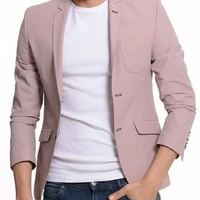 ModaForMen Solid Color Blazer Made In Europe