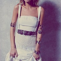 Free People Abbie's Limited Edition White Fringe Dress