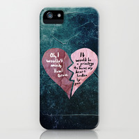 Broken Heart-The Fault in Our Stars iPhone & iPod Case by Anthony Londer