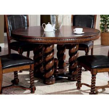 Brookville Warm Chestnut Round Dining Table with Rope Style Legs