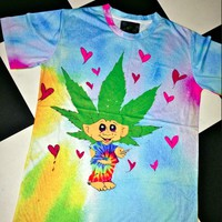 SWEET LORD O'MIGHTY! TROLOLOL WEED DOLL TIEDYE TEE