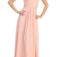 Rent Long Strapless Chiffon Bridesmaid Dresses Online | Rent The Dress