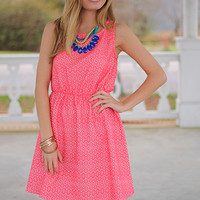 Honeycomb Tank Dress, Coral