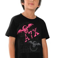 Avenged Sevenfold Pink Bat Kids T-Shirt