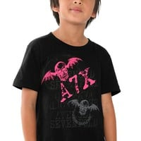 Avenged Sevenfold Pink Bat Kids T-Shirt Size : Medium
