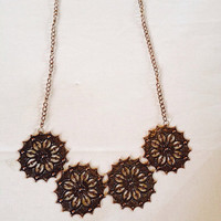 Copper Statement Chain Necklace
