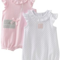 Little Me Baby-girls Newborn So Cute 2 Pack Romper