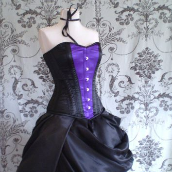 Belle Black and Purple CorsetTo Fit A 2224 Inch by Innerversion
