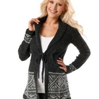 Motherhood Maternity: Long Sleeve Fairisle Maternity Cardigan