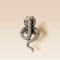 bebe Crystal Cobra Ring