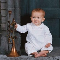 Pintucked / Hand Smocked Heirloom Christening Suit