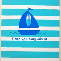Come Sail Away With Me 11x14 canvas by annielayer on Etsy