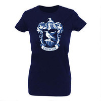 Harry Potter Ravenclaw Crest Women&#x27;s Fitted T-Shirt | WBshop.com | Warner Bros.
