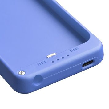 2200mAh External Battery Backup Charger Case Pack Power Bank for iPhone 5 (Blue)