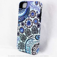 Paisley iPhone 5 5s Case - Blue Mehndi - Artistic Premium TOUGH Case for iPhone 5