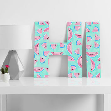 Lisa Argyropoulos Summertime In Aqua Decorative Letters
