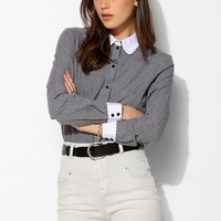 Cooperative Contrast-Collar Oxford Shirt - Urban Outfitters