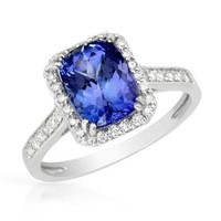 14K W/G Ring with 3.73 CTW Diamonds , Tanzanite - 			        	Festival Fashion Shop