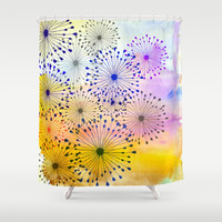 Burst! Shower Curtain by Sreetama Ray