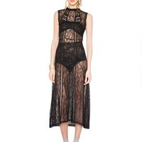 Ebony Lace Maxi Dress
