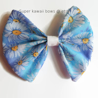 Daisy Periwinkle Bow, Stomach Cancer Awareness