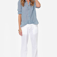 Billabong Coastline Wave White Pants