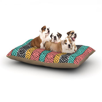 "Pom Graphic Design ""Artisian"" Pink Teal Dog Bed"