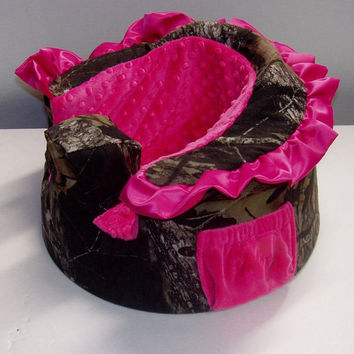 Custom Ruffled Camo Cover For Bumbo Baby seats-choose your fabric
