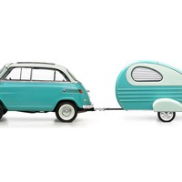 1957 - RARE 57 BMW ISETTA 300 MICRO CAR WITH SUNROO For Sale