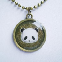 Panda Necklace, Animal Necklace, Hand Cast Resin Accessory | Luulla
