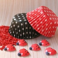 Ladybug Cupcake Kit for 24 Cupcakes | sweetestelle - Craft Supplies on ArtFire
