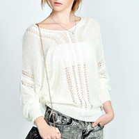 Charlie Cable Pointelle Knit Jumper